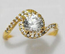 18K BEAUTIFUL YELLOW GOLD FILLED RING SIZE 7