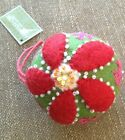 Midwest CBK Stuffed Felt Floral Ball Ornament Brand New With Tags