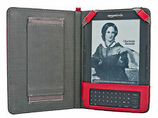 Kindle Keyboard (3, 3G, Wifi) Melio Hand Strap Case Leather Cover + Screen Guard