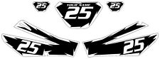 2006-2009 Yamaha TTR250 Pre-Printed Black Backgrounds White Shock Series