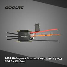 Original GoolRC 130A Waterproof Brushless Speed Controller ESC for RC Boat L7F0