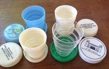 4 Vintage Collapsible Folding Travel Cup Camping