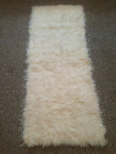 Long Handmade Genuine Sheepskin Fur Rug Runner Soft Carpet 160cm/60cm