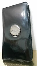 Mimco Leather Large MIM Travel Wallet Clutch Purse BNWT Black