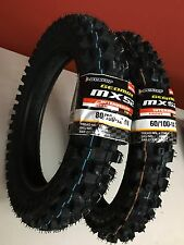 "New Dunlop MX52 80/100-12"" & 60/100-14"" Tires For KLX110 CRF110 TTR110 Pit Bikes"