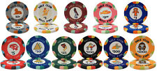 NEW 300 PC Nile Club Ceramic 10 Gram Poker Chips Bulk Lot Select Denominations