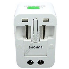 Multi-Universal AU/UK/US/EU Travel Pared Cargador adaptador convertidor Plug