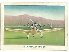 WWII 1940s- Original Cigarette Card- Airplane- Navy Trainer- Tiny TIMM- N2T-1