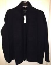 J Crew XS S Chunky Open Cardigan Sweater Black NWT $128 c2915 Sold Out Online