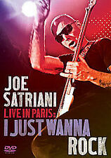 Joe Satriani - Live In Paris - I Just Wanna Rock (DVD, 2010) NEW AND SEALED