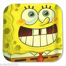 SPONGEBOB SQUAREPANTS Party LARGE PAPER PLATES (8) ~ Birthday Supplies Luncheon