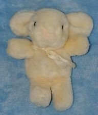 Just Friends Off White Pale Yellow Plush Bunny Rabbit Giggle Shake Rattle