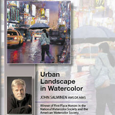 NEW DVD: URBAN LANDSCAPE IN WATERCOLOR Candid Photos Color Value Neon Shimmer