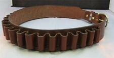"LEATHER SHOTGUN SHELL AMMO CARTRIDGE BELT -12 gauge - BRN -NEW 34"" to 50"" sizes"