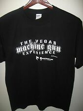 Las Vegas Nevada USA Machine Gun Experience Indoor Range Store Black T Shirt Lg