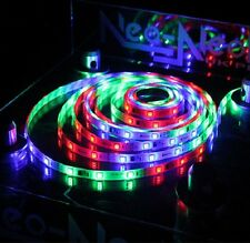 LED 5M RGB Digital Strip Light Kit 5050 12V Waterproof Adaptor+Remo Controller