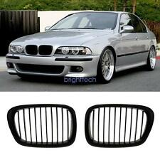 Black Paint Left &Right Front Kidney Grille Grill For BMW E39 5 Series 1995-2004