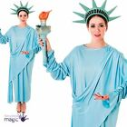 Ladies Adults Statue of Liberty American 4th July USA Fancy Dress Costume Outfit