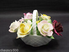 Royal Adderly Floral Basket Bone China England