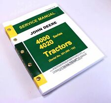 JOHN DEERE 4020 4000 TRACTOR TECHNICAL MANUAL TM-1006 SERVICE REPAIR SHOP 1969up