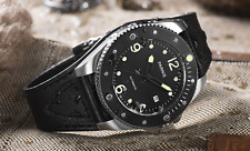 43mm Parnis  Sapphire glass ceramic bezel date window Automatic mens Watch P600