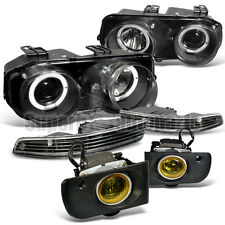 1994-1997 Acura Integra Halo Projector Head Light+Bumper Black+Yellow Fog Lamps