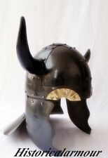 Viking Barbarian Warrior Helmet - Medieval Costume Armor with Horns""""