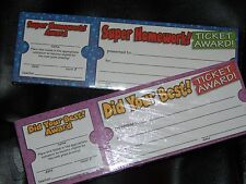Lot 2 (100 each) Scholastic TICKET AWARD Reward Coupons Homework Did your best