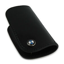 BMW Leather Key Case - Black / Black  80232149936