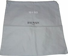 BALMAIN Paris dust bag 15 X 15.5  handbag sleeper storage travel purse duster