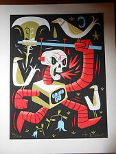 Tim BISKUP Deathbot Axe Screen Print Poster