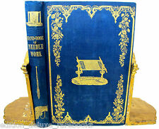 HAND-BOOK OF NEEDLEWORK 1842 Engravings by Butler EMBROIDERY Knitting Crochet
