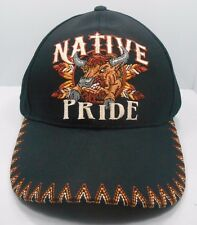 Native Pride Native American Buffalo Bison  Black Ball Cap Hat New NWT H21