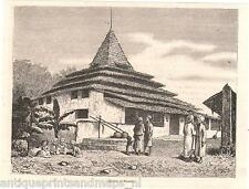 Antique print mosque Ternate Maluku Islands 1880 Noord Molukken Indonesia