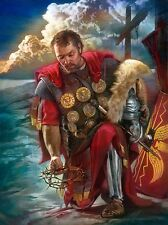 Nathan Greene THE ROMAN CENTURION 20x16 Soldier Art Print Christian Easter Cross