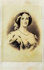 c1860 Augusta v. Sachsen-Weimar-Eisenach Deutsche Kaiserin cdv Original-Photo