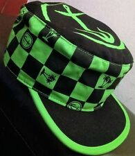 Vans Off The Wall Cap - Captain Fin Neon Green Painters Hat - One Size NEW