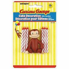 Curious George Cake Topper & Birthday Candle Set, New, Free Shipping