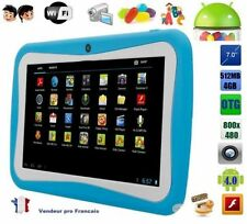 Tablette tactile 7 pouce jeux Educative enfant android wifi google play 4Gb Bleu