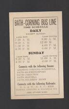 Bath Corning Bus Line Time Schedule New York Fairchild Dry Cleaning