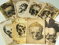 Gothic Skulls ~ Card Toppers / Scrapbooking / Card Making
