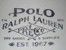 Ralph Lauren Polo Est.1967 Dry Goods & Supplies Arrow Arrowheads T-Shirt Adult L