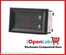 DIGITAL VOLTMETER AMMETER DC 0-100V 10A DUAL LED RED BLUE MONITOR LCD PANEL