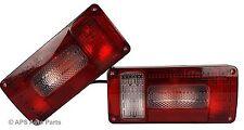 2x Rectangular Trailer Rear Lights 6 Function Brake Indicator Lorry Tractor Van