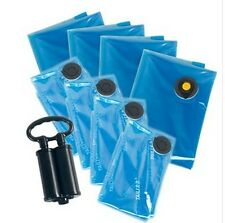 Vacuum Storage Bag 8PCS +1 double Air Pump For Bedding and Clothes Free shipping