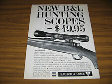 1963 Vintage Ad B&L Bausch & Lomb Hunting Rifle Scopes Rochester,NY
