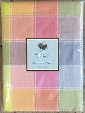 "Well Dressed Home Pastel Tartan Plaid  Tablecloth 60"" X 84"" Checked"