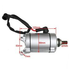 9 Teeth Start Starter Motor Longxin 250cc engine PIT Dirt Quad Bike ATV 53mm 7mm