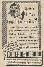 W1215 Lotteria di Merano - Pubblicità 1945 - Vintage Advert