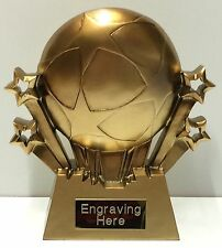 Gold Football Star Trophy + FREE Engraving +  FREE P&P On Additional Trophies